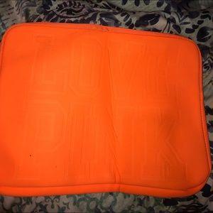 PINK Bright Orange Laptop Case